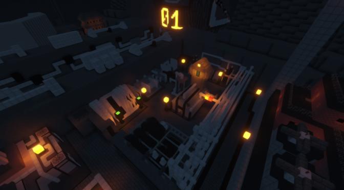 A Perfect Recreation of FFVII's Midgar in Minecraft