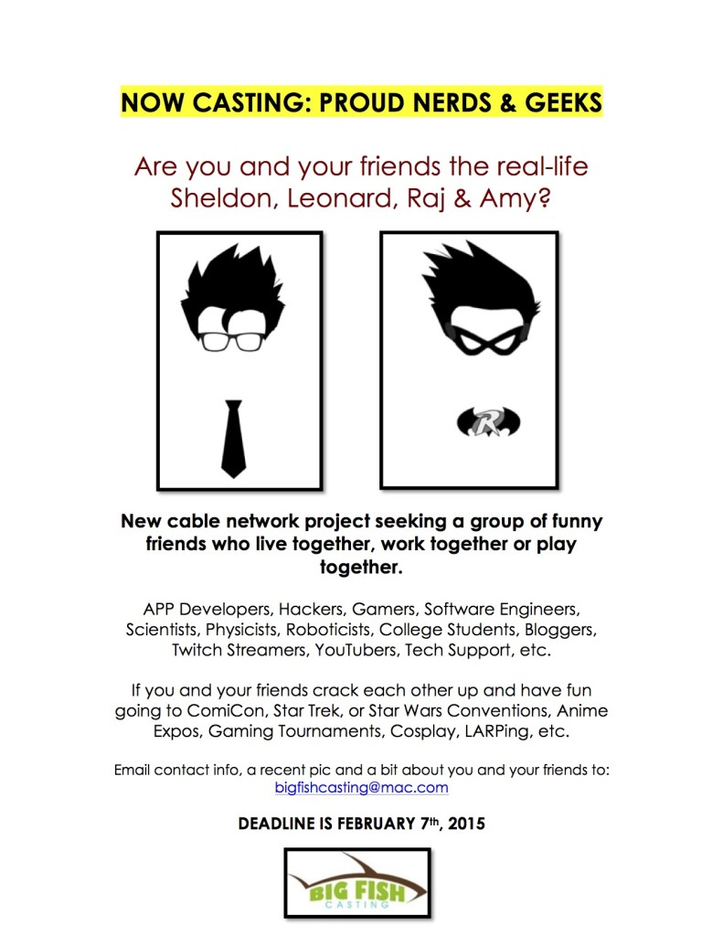 NOW CASTING_Geeks&Nerds