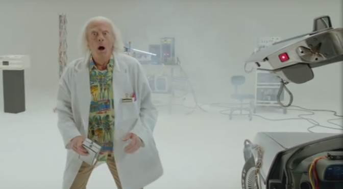 There's a 'Back to the Future' Doc Brown Short Coming