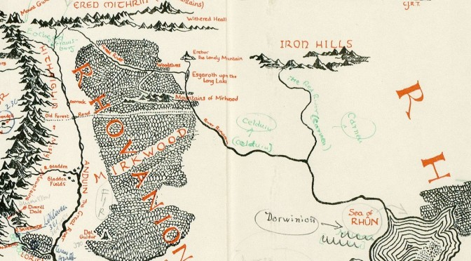 A Map of Middle Earth Annotated By Tolkien Discovered