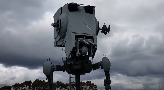 Some Guy Built a Full Sized AT-ST and It's Amazing