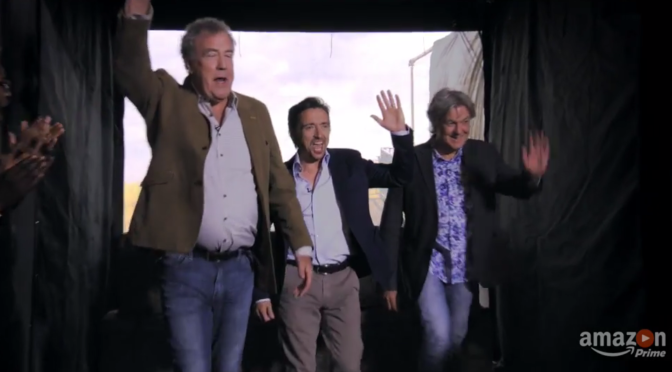 Clarkson, Hammond and May are Back in the Trailer for 'The Grand Tour'